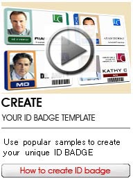 Online ID Badge Maker Low Cost And Professional Card - Free id badge template