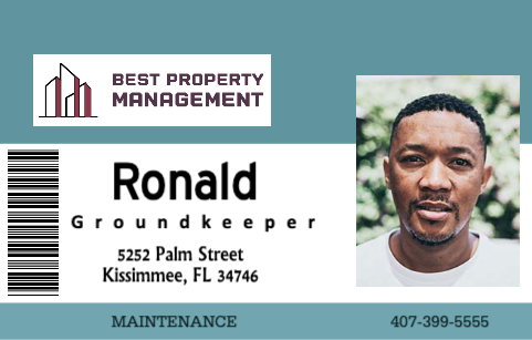 Property Management ID card