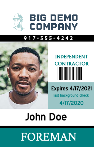 Independent Contractor ID