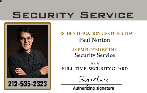 Security Guard ID