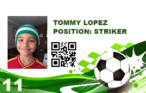 Soccer Player Card