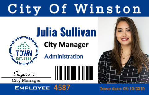 Municipal employee ID