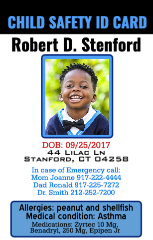 Child Emergency contact ID