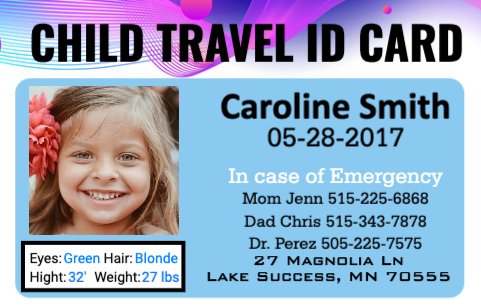 Child Travel ID
