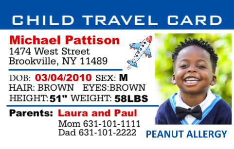 Child Safety Travel Card