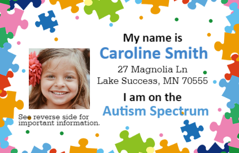 Autism Spectrum ID card