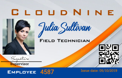 Field Technician ID Badge