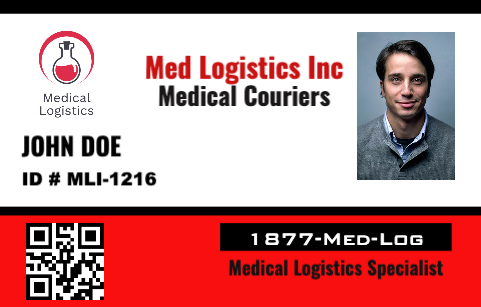 Medical Courier ID Badge