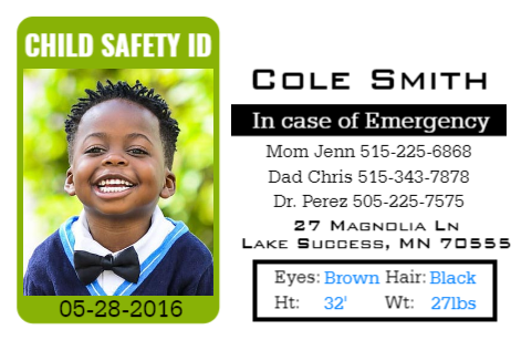 3 Things You Should Include On Your Child Id Card Easyidcard Com